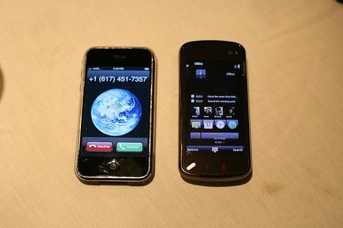 Nokia N97 und iPhone