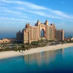 Das Hotel Atlantis auf der Palmeninsel vor der Küste von Dubai