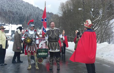 Ritter mit Wegzehrung Faschingsumzug Katzhütte 2010