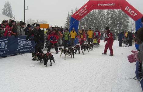 Rudi Ropertz, Start 15. Internationales Schlittenhunderennen Frauenwald