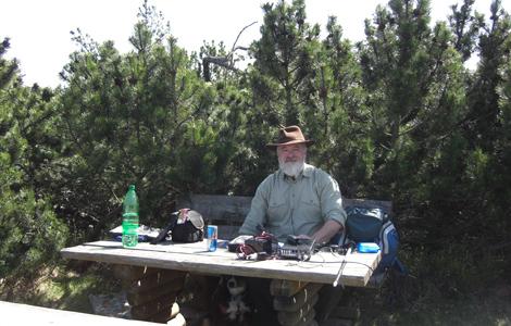 Amateurfunker DJ 3AX auf dem Langen berg