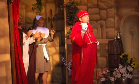 Bischof Lullus ist von der Bratwurst begeistert