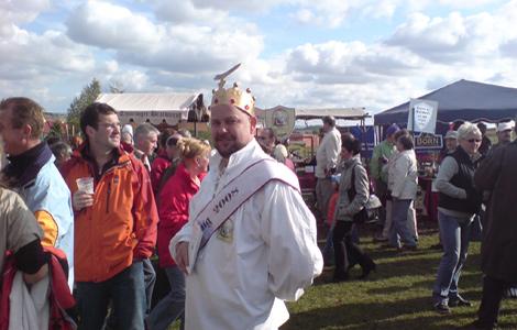 Thüringer Bratwurstkönig auf der Bratwurstiade 2008