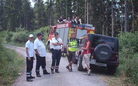 Helfer an der Downhill Absolute Abfahrt Ilmenau 2010