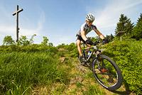 Mountainbiker im Bayerischen Wald