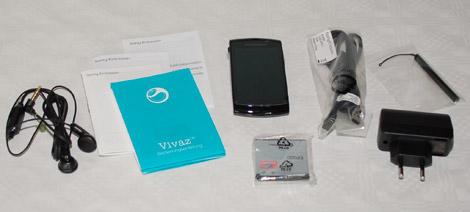 Sony Ericsson VIVAZ Lieferumgang