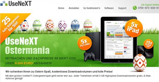 UseNext Ostergewinnspiel 2011