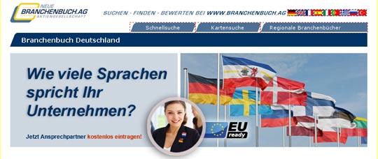 Screenshot Neue Branchenbuch AG